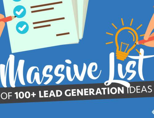 Massive List Of 100+ Lead Generation Ideas